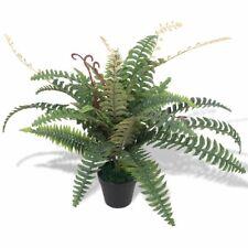 vidaXL Artificial Fern Plant with Pot 60cm Green Fake Foliage Floral Decor