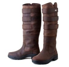 Rhinegold Elite Colorado Leather Brown Country River boots 38 5
