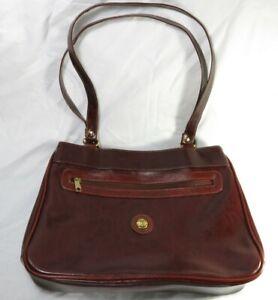 Pineland Handbag Women's Brown Multizip Pockets Synthetic Material
