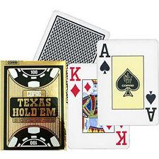 1 Mazzo Carte Copag Gold Texas Hold'em 100% plastica CPG21 colore Nero