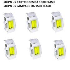 SILK'N PRO 2013 CARTUCCIA RICAMBIO - KIT 5 LAMPADE Catridges - DA 1500 FLASH