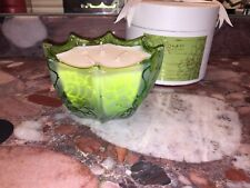 D.L. & Co Belle Epoque Jasmine Tea Rare Botanic Scalloped Scented Candle 10oz