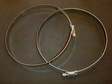 """New listing 2 Pc Stainless Steel 4"""" - 5"""" Range Hose Duct Clamp# Hdc100-120"""