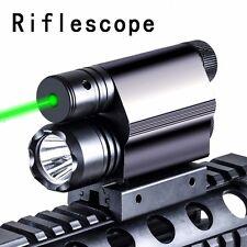 Green Laser Sight & CREE T6 LED Flash Light Combo w/ Rail Mount Tactical