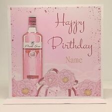 Personalised Birthday Card | Happy Birthday | Gin inspired card | Pink Card |