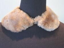 Vintage Peter Pan Collar 50s Fake Fur Wrap Stole Vegan Jacket Coat Sweater Pinup