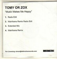 (CP766) Tomy or Zox, Music Makes Me Happy - DJ CD