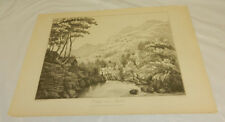 1810 Antique Print/COTTAGE NEAR RYDAL, CUMBERLAND ENGLAND/Joseph Wilkinson