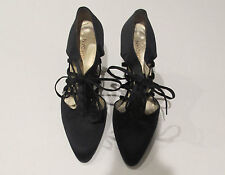 Charles Jourdan  Sexy Satin Lace Up Cage Stiletto Heels Very French Size 5.5