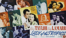 Lady of the tropics Hedy Lamarr vintage movie poster