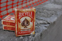 RED VINTAGE Ellusionist Bicycle 1800 Deck of Playing Cards old aged magic Trick