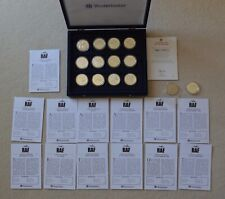 More details for history of the raf war wwi wwii silver coin collection 13 coin set coa