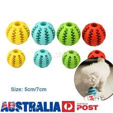 5/7cm Dog Chew Ball Toy Rubber DentalClean Teeth HealthyTreat Gum Bite Puppy Pet