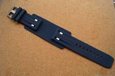 GENUINE SUPERDRY 25MM BLUE RUBBER  CUFF WATCH STRAP