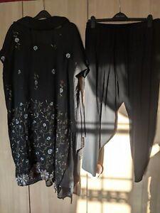 Bollywood Designer Size XXL Black Salwar Kameez Punjabi Suit