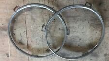 79-83 DATSUN 280ZX HEADLAMP STAINLESS STEEL TRIM RINGS MOUNTING BEZELS NICE OEM