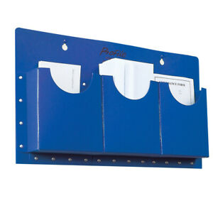 Classroom Office A5 Filapocket x 3 pockets Wall Hanging Storage- Blue