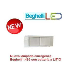 Beghelli 1499L 11 W Plafoniera lampada di Emergenza ad Incasso LED BATTERIA LITI