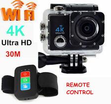 UHD 4K 1080P WiFi Remote Control Action Sports Helmet Camera 30m Waterproof