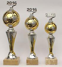 """3er-Serie Pokale Fußball """"on Fire"""" mit Jahreszahl 2019 oder 2020 inkl. Gravuren"""