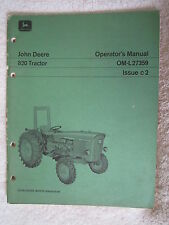 VINTAGE ORIGINAL JOHN DEERE 820 TRACTOR OPERATORS MANUAL