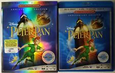 DISNEY PETER PAN BLU RAY DVD 2 DISC SET + SLIPCOVER SLEEVE FREE WORLD SHIPPING