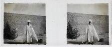 Afrique Niger ? Photo C1 Plaque de verre Stereo Vintage ca 1910