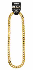 Gold Gangster Necklace - Chunky Gold Pimp Fancy Dress Jewelery Costume
