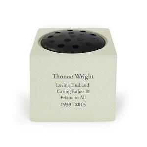 Personalised Message Memorial Vase - Grave Flower Bowl Cemetery Holder