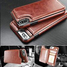 Para iPhone x diez 8 Plus 5S SE Magnético Cuero Estuche con Funda tipo billetera con porta tarjeta