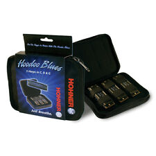 Hohner Hoodoo Blues Diatonic Harmonica 3 Pack Key of C,D,G Case Included