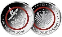 5 Euro Gedenkmünze Tropische Zone Deutschland 2017 - F - in Kapsel u. Tasche