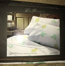 Vintage Full Floral Sheet Set Flat Fitted 2 Standard Cases New Out Of Package