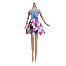 Star Pattern Dress for Monster High Dolls Kid Toys Cute Cloth Plaid Short Skirts