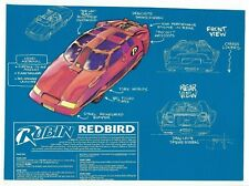"""1990's Robin RED BIRD PROMO sheet Previews magazine cut-out 10 1/2"""" X 7 3/4""""."""