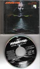 """ANNIHILATOR original CD """"Never Neverland"""" 1990 on Roadrunner"""