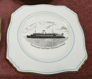 VINTAGE THE ISLAND CAR FERRY SS CHARLOTTETOWN TEA CUP SET ROYAL WINTON