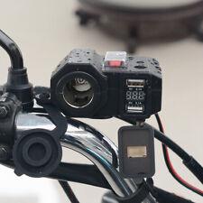Moto Mechero Enchufe Dual USB Cargador LED Voltímetro Interruptor Partes