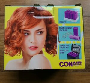 Conair Mini PRO Instant Heat Travel Hair Curlers, Purple Hot Rollers New