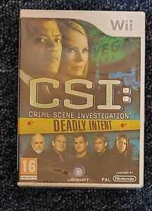 CSI Deadly Intent Nintendo Wii NEW And SEALED PAL UK - Crime Scene Investigation