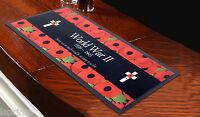 POPPY'S WORLD WAR 2 BAR RUNNER *DONATION TO POPPY APPEAL EVERY SALE*