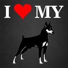 I Love My Doberman Dog Rescue Adopt Car Window Decal Sticker Pet Animal Lover