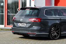 Difusor trasero en mitad parte + partes laterales de ABS VW Passat 3g b8 r-line con Abe