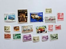Lot +10 timbres divers pays voitures anciennes