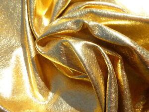 Pigskin leather hide HUGE Hot Metallic Gold garment weight light grain texture