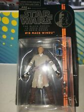 Star Wars The Black Series Mace Windu 3.75. Figure has come off cardback