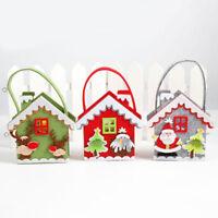 Eg _ Festa di Natale Sacchetto per Caramelle Babbo Pupazzo Neve Decorazione