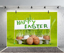 9x6/5x7ft Easter Vinyl Backgrounds Painted Eggs Decor Photography Backdrops