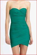 BCBG MAXAZRIA MADGE ULTRA  GREEN RUCHING DRESS size 10 NWT $298-RackE/33