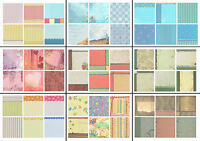 12x12 Scrapbook Papers Set - 6 Sheets - Various Themes